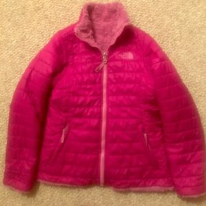 The North Face 2 in 1 zip up puffer jacket